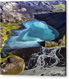 Acrylic Print featuring the photograph Aerial Photography by Gunnar Orn Arnason