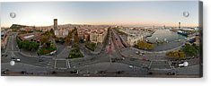 Aerial View Of A City, Barcelona Acrylic Print