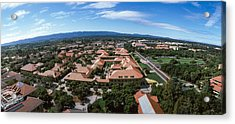 Aerial View Of Stanford University Acrylic Print by Panoramic Images
