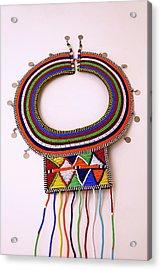 Africa, Kenya Maasai Tribal Beads Acrylic Print