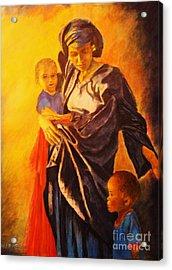African Madonna Acrylic Print by Dagmar Helbig