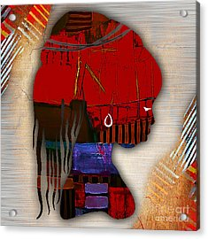 African Statue Collection Acrylic Print by Marvin Blaine
