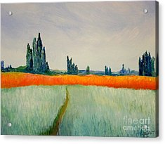 After Monet Acrylic Print by Bill OConnor