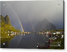 After The Rain In Reine Acrylic Print