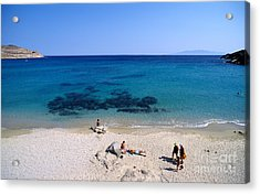 Agrari Beach Acrylic Print by George Atsametakis