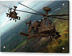 2 Ah64 Apache Acrylic Print