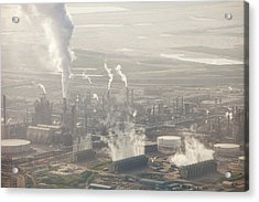 Air Pollution From Syncrude Tar Sands Acrylic Print