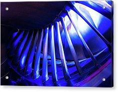 Aircraft Engine Fan Blades. Acrylic Print by Mark Williamson