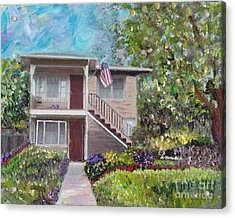 Acrylic Print featuring the painting Alameda 1908 Duplex  by Linda Weinstock