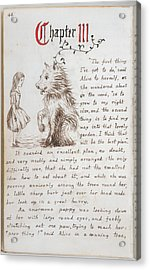 Alice's Adventures In Wonderland Acrylic Print by British Library