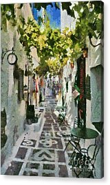 Alley In Ios Town Acrylic Print