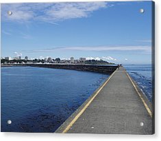 Acrylic Print featuring the photograph Along The Breakwater by Marilyn Wilson