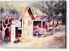 Acrylic Print featuring the painting Al's Auto Shop by John  Svenson