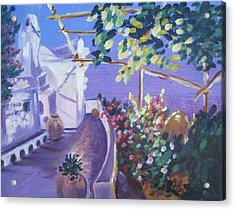 Acrylic Print featuring the painting Amalfi Evening by Julie Todd-Cundiff