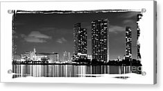American Airlines Arena And Condominiums Acrylic Print by Carsten Reisinger