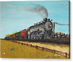 American Express Acrylic Print by Linda Simon