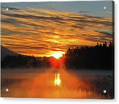 Acrylic Print featuring the photograph American Lake Sunrise by Tikvah's Hope