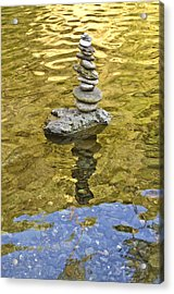 American River Rock Art Acrylic Print