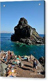 Ammoudi Beach Acrylic Print by George Atsametakis