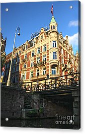 Amsterdam Canal View - 02 Acrylic Print by Gregory Dyer