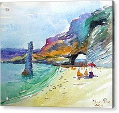 Andros Acrylic Print by George Siaba