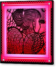 Angel Leah 2 Acrylic Print by Maryann  DAmico