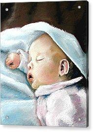 Angel Sleeping Acrylic Print by Lenore Gaudet
