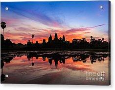 Angkor Wat Sunrise Acrylic Print by Fototrav Print