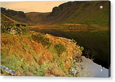 Annascaul Lake Acrylic Print by Barbara Walsh