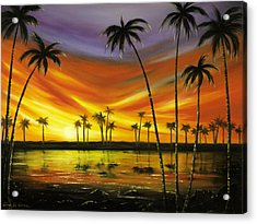 Another Sunset In Paradise Acrylic Print by Gina De Gorna