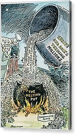Anti-immigration Cartoon Acrylic Print by Granger