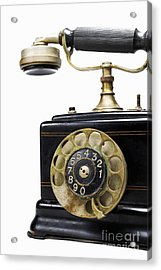 Antique Dial Telephone Acrylic Print by Sami Sarkis