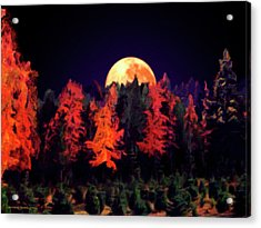 Apple Hill Moonrise Acrylic Print