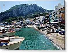 Acrylic Print featuring the photograph Arrival To Capri  by Dany Lison