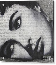 Art In The News 15-elizabeth Acrylic Print by Michael Cross