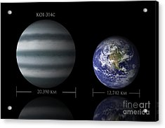 Artists Depiction Of The Size Acrylic Print by Marc Ward