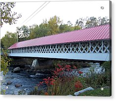 Ashuelot Covered Bridge Acrylic Print by Catherine Gagne