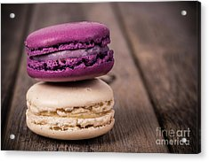 Assorted Macaroons Vintage Acrylic Print by Jane Rix