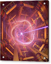 Atlas Particle Collision Simulation Acrylic Print by David Parker