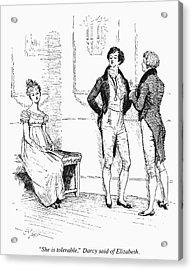 Austen Pride & Prejudice Acrylic Print by Granger