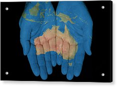 Australia In Our Hands Acrylic Print