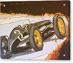 Automobile Racing Acrylic Print by Paul Guyer