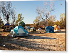 Autumn Camping At Copper Breaks State Acrylic Print