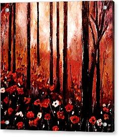 Autumn Glow Acrylic Print by Indira Mukherji