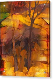 Autumn Gold Acrylic Print by Lutz Baar