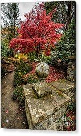 Autumn Path Acrylic Print by Adrian Evans