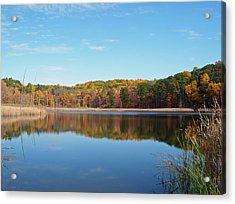 Autumn Pond Acrylic Print by Aimee L Maher Photography and Art Visit ALMGallerydotcom