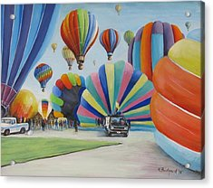 Acrylic Print featuring the painting Balloon Fest by Oz Freedgood