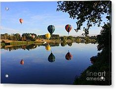 Balloons Heading East Acrylic Print by Carol Groenen
