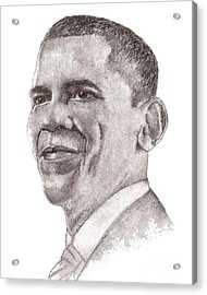 Barack Obama Acrylic Print by Nan Wright